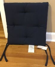 NEW Pottery Barn Tufted Outdoor Dining Chair Cushion INK BLUE