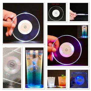 LED Light Up Coasters Acrylic Strong Unique coasters. Suitable For Homes&Parties