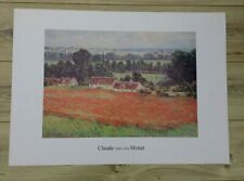 Claude Monet Large Print - Field of Poppies at Giverny (27.5 x 19.8ins)