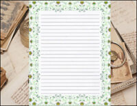 Victorian Design Lined Stationery Writing Paper Set, 25 sheets & 10 envelopes