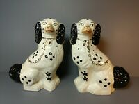 Pair of Vintage Matching Staffordshire Spaniel Dogs 10""