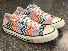 Women's Converse Stars and Stripes Chevron Low Top Sneakers US 7 UK 5 EUR 37.5