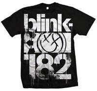 BLINK 182 3 BARS BLACK T-SHIRT USA IMPORT BLACK COTTON FRONT PRINT  SHORT SLEEVE