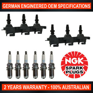 6x NGK Spark Plugs & 2x Swan Ignition Coil Packs for Citroen XM Y4