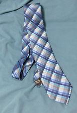 VAN HEUSEN  Mens Blue Checked 100% silk Neck Tie