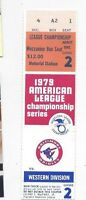 1979 ALCS ticket Baltimore Orioles California Angels Gm 2 Eddie Murray HR exmt