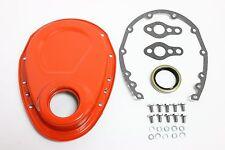 Orange SB Chevy Timing Chain Cover Kit 327 350 383 400 SBC Gasket Seal Bolts Set