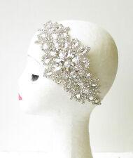 Silver Diamante Headdress 1920s Flapper Headband Vintage Great Gatsby 1930 V24