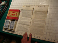 Vintage toy: complete 1930's  FLINCH w 2 sets of instructions