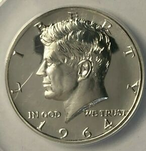 1964 Accented Hair FS-401 ANACS PF 65 Proof Silver US Half Dollar 50C
