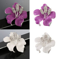 Rhinestone Crystal Wedding Bridal Bouquet Rose Flower Brooch Pin Jewelry Gift