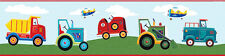 RoomMates Bordüre Transportfahrzeuge Auto Traktor LKW selbstklebend ablösbar