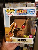 Funko Pop! Animation Naruto Shippuden Kurama Flocked Hot Topic Exclusive #73 NEW