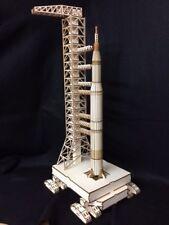 Découpe Laser Bois Saturn 5 ROCKET & lancement Module 3D/Modèle Puzzle Kit