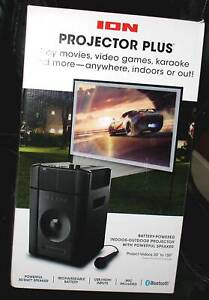 ION IPA119 Projector Plus Powered Wireless Speaker with LED Projector
