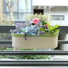 Z1217 Metal Flower Pot Hanging Balcony Garden Plant Planter Home Office Decor