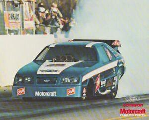 "1984 Raymond Beadle ""Blue Max"" Motorcraft Ford Mustang Funny Car NHRA postcard"