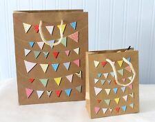 Bunting Print Design Gift Bag  1, 2 or 5 Bags  Small or Medium