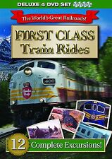World's Great Railroads: First Class Train Rides (4 DVD Set) 12 Excursions NEW!