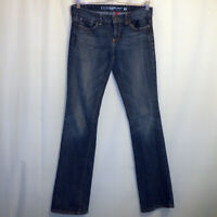 """GUESS Carla Bootcut Jeans Women's Size 28 Blue 32 1/4"""" Inseam Embroidered"""