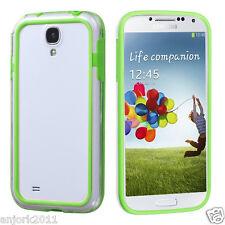 Samsung Galaxy S4 i9500 Hybrid TPU Bumper Case Clear Green