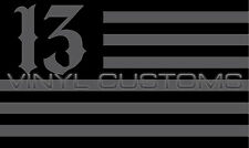 """5"""" American Flag Decal Sticker USA Lucky 13 Number 13 Vinyl Tactical"""