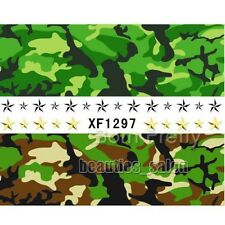 Army Camouflage Pattern Nail Art Water Decal Transfers Nail Sticker Tattoo