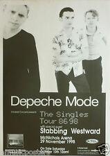 "Depeche Mode/Stabbing Westward ""Singles Tour 1986-98"" V.2 Denver Concert Poster"