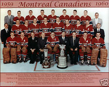 1959-60 MONTREAL CANADIENS STANLEY CUP CHAMPIONS 8X10 TEAM PHOTO GEOFFRION