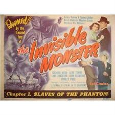 Invisible Monster - Cliffhanger Serial Movie DVD Richard Webb  Aline Towne