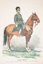 ARMEE RUSSE-REGIMENT DES GRENADIERS A CHEVAL GARDE GRAVURE COULEURS 1890-R911