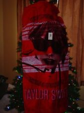 TAYLOR SWIFT OFFICIAL RED SUMMER BEACH TOWEL -NICE!