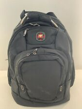New Wenger by SwissGear Black Triple Compartment Backpack