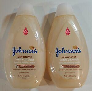 Lot Of 2 - Johnson's Skin Nourish Vanilla Oat Baby Wash with Oat Extract