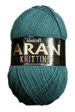 WOOLCRAFT 400grams Aran With 25 Wool Knitting Yarn - to Kingfisher 825 1ball