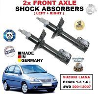AVANT DROITE GAUCHE Amortisseurs pour SUZUKI LIANA BREAK 1.3 1.6 I 4WD 2001-2007
