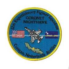 Patch B21 USAF 12th EFS Coronet Nighthawk  - Curacao, Netherlands Antilles