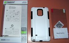 Trident Aegis Case Galaxy Note 4, White/Black, Hybrid w PET screen protector