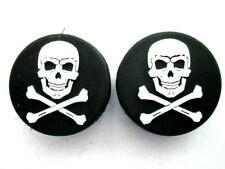 2 Pirate skull & Crossbone Tennis Vibration Absorber Dampeners One Eyed Willy