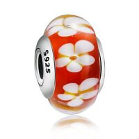 Charm European Glass Bead Fashion Jewelry For Sterling 925 Silver Bracelet Chain