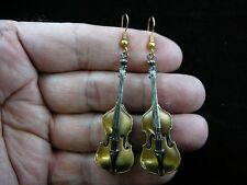 Earrings Musical instrument jewelry (#M12-D) String Bass pair dangle