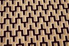 """Robert Allen Velvet Fabric Burgundy White Pattern Woven Upholstery Suede 55""""W"""