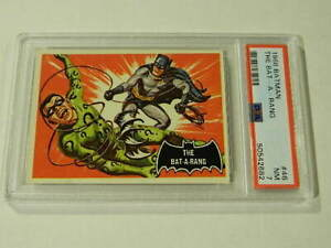 "1966 Topps BATMAN Black Bat #46 ""The Bat-A-Rang"" - PSA 7 NM - High Grade!"