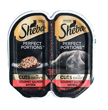 Sheba cat food Cuts  Gourmet Salmon Perfect Portion 12 Each - 24 1.3 Oz Servings