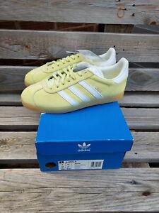 adidas Originals Gazelle Trainers - Ice Yellow/White - RRP £75