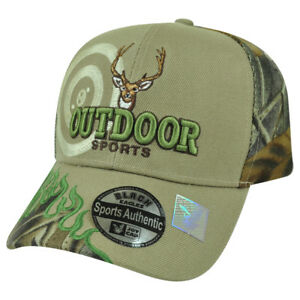 Outdoor Sports Deer Hunting Hunt Camping Camp Flame Camouflage Camo Hat Cap Beig
