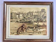 RARE Black Lion Wharf FOIL Etching James McNeill Whistler Framed Signed ORIGINAL