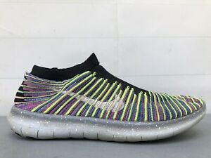 Nike Flyknit Free RN Motion Multi Color Size 9 Mens 834584-006 RARE *NO LACES*