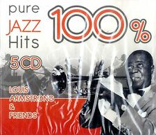 100% PURE JAZZ HITS (Louis Armstrong & Friends) BOX 5 CD NEW SIGILLATO