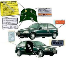 Oem HONDA Alarm Complete Decal Set 96-00 Jdm CIVIC Type R EK9 FERIO Genuine Part